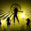 Royalty-Free Stock Photo: Creative background and silhouette dance