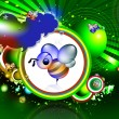 Honey bee in abstract background — 图库照片