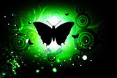 Butterfly in abstract background — Stock Photo