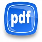 Pdf file internet icon — Stock Photo