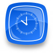 Clock internet button — Stockfoto