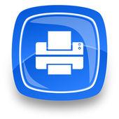Printer internet icon — Stock Photo