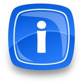 Information internet icon — Stock Photo