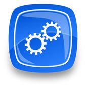 Gear internet icon — Stock Photo