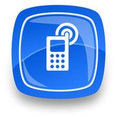 Mobiel internet knop — Stockfoto