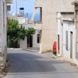 Royalty-Free Stock Photo: Empty street in old cretan sea resort