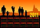 Famiglia calendario 2011 — Foto Stock