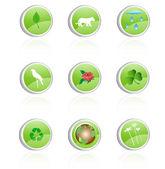 Ecology icon, green collection — Stock Vector