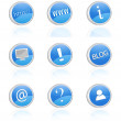 Royalty-Free Stock Vector Image: Internet icons