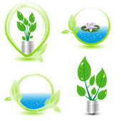 Ekologie prvky — Stock vektor