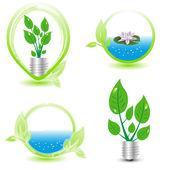 ökologie-design-elemente — Stockvektor