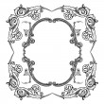 Antique frame — Stock Vector