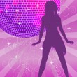 Disco background - Imagens vectoriais em stock