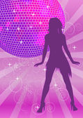 Disco achtergrond — Stockvector