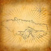 复古经典地图 — 图库照片