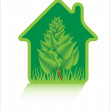 Stock Vector: Eco green home icons