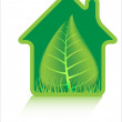 Eco green home icons — Stock Vector