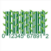Ecology BARCODE — Stock Vector