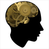 Gear of the human mind — Stock Vector