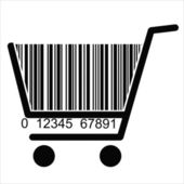BARCODE Shopping basket — Stock Vector