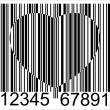 Finance bar code heart — Stock Photo