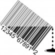 Water bar code — Stock Photo