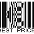 Pound barcode, best price — Stock Vector #2910753