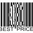 Pound barcode, best price — Stock Vector #2910766