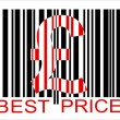 Stock Vector: Pound barcode, best price