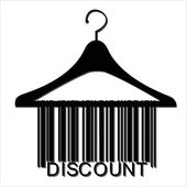 Barcode clothes hanger — Stock Vector