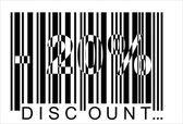 -20 percent discount, bar code — Stock Vector