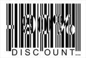 90 percent discount, bar code — Stock Vector
