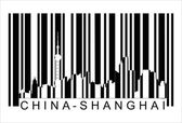 China shanghai barcode — Stock Vector