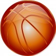 Stock Vector: ORANGE ICON basketball