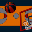 Stock Vector: Background basketball court