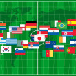 2010 world cup football vector — Stock Photo