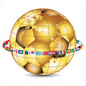 Gold world cup 2010, vector — Stock Vector