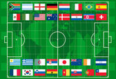 Vector 2010 world cup football — Vector de stock
