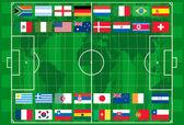 2010 světový pohár fotbal vektor — Stock vektor