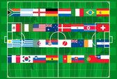 Vetor de futebol de copa de mundo 2010 — Vetorial Stock