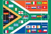 Vettore di calcio 2010 world cup — Vettoriale Stock