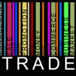 Colorful trade text barcode, vector - Imagen vectorial