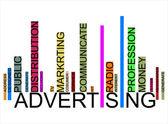 Publicidad texto código de barras — Vector de stock