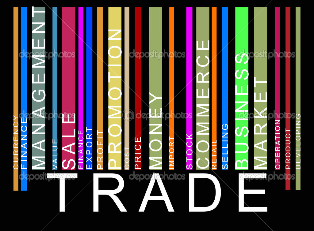 barcode vector art. trade text arcode, vector