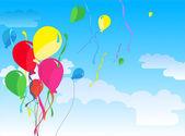 Sieben schöne party-ballons vektor — Stockvektor
