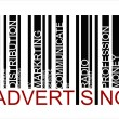 ADVERTISING  text bar-code - Stock Vector