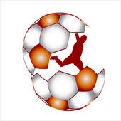 Player football ball, vector — Stock Vector