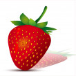 Stock Vector: Falling strawberries. Isolated on a white background