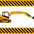 Backhoe  construction machine vector — Stock Vector