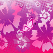 Floral pattern background  vector — Stock Vector